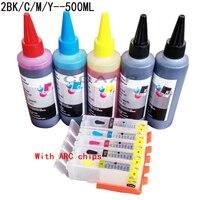 Canon Pixma IP7250 IP8750 IX6850 MG5450 MG5450s MG5550 MG5650 Drucker für nachfüllbare tintenpatrone + 500 ml dye-tinte