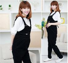 קוריאנית יולדות סרבל דוב חמוד רוכסן בטן פלטה נשים בהריון מכנסיים SH-W 246