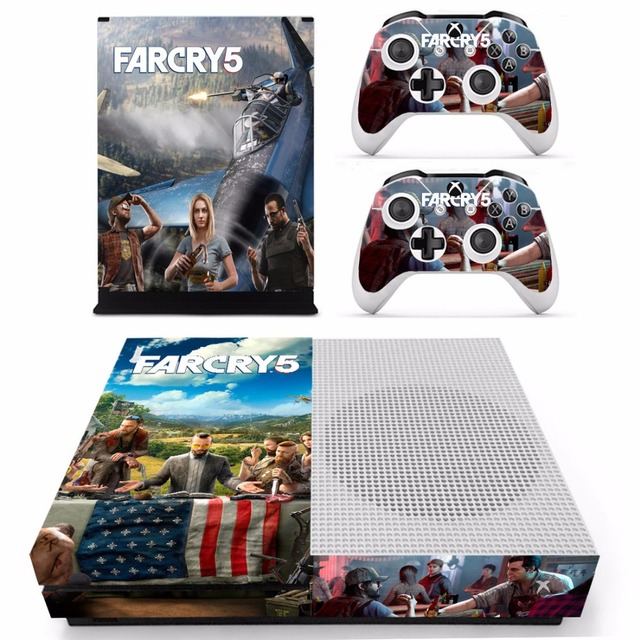 US $8 54 5% OFF|Far Cry 5 Farcry Skin Sticker Decal For Microsoft Xbox One  S Console and 2 Controllers For Xbox One S Skin Sticker Vinyl-in Stickers