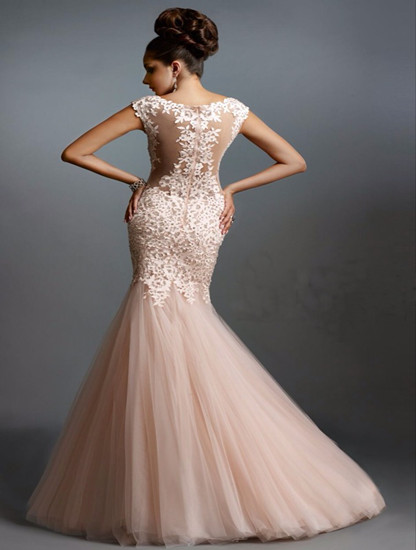 sexy see through lace evening party robe de soiree courte saree vestidos de formatura mermaid long mother of the bride dresses in Mother of the Bride Dresses from Weddings Events