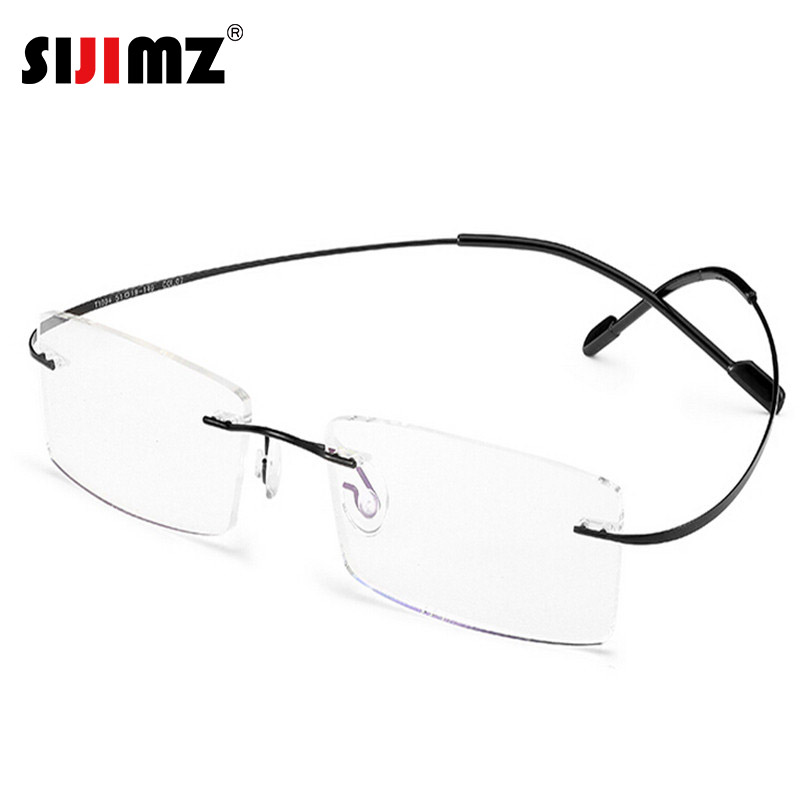 15d6ee0c265 Rimless Hingeless Titanium Glasses
