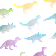 16Pcs Plastic Night Light Noctilucent Vivid Dinosaur Figure Toy Gift For Children Toys(China)
