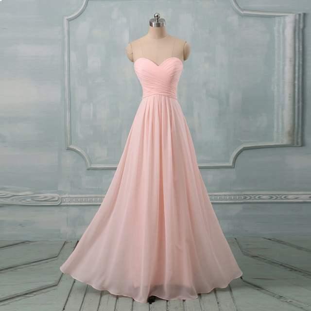 authentische Qualität Verkaufsförderung Wählen Sie für neueste Günstige Pastell farben Prom Kleider Zu Hochzeit Lange A-Line Liebsten  Chiffon-Formales Kleid Brautjungfer Kleider
