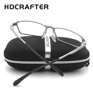Image 3 - HDCRAFTER lunettes légères TR90, monture 17g pour la myopie et lhypermétropie, Prescription, montures pour lunettes de lecture transparentes pour hommes