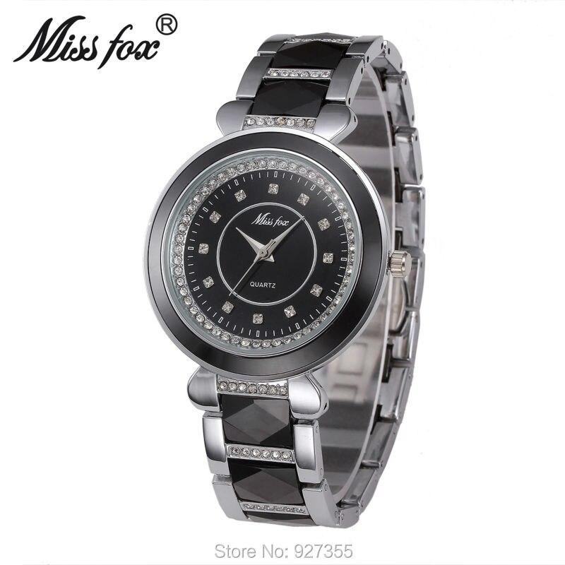 Hot Sales Women White Black Ceramic Watches Luxury High Quality Watch Fashion Casual Wristwatches Dress Watch