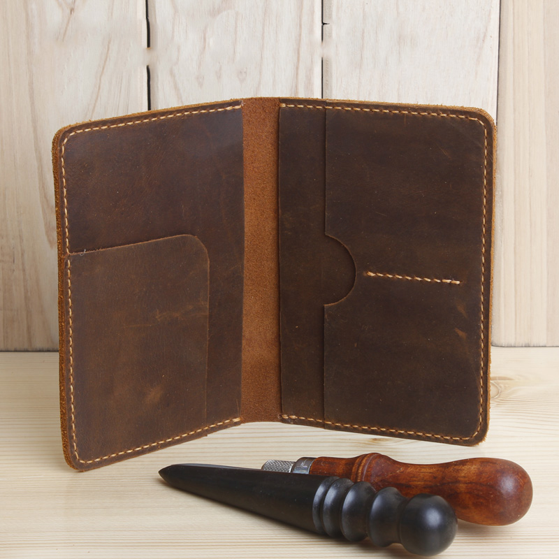 Handmade Genuine Leather Men Passport Cover Travel Leather Passport Holder Wallet travel organizer Covers on the Passport