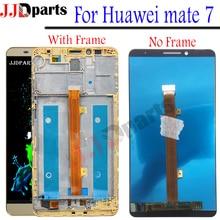 Дисплей huawei mate 7 ЖК-дисплей + сенсорный экран дигитайзер сборка mate 7 ЖК с рамкой для 6,0 «huawei mate7 замена экрана