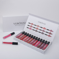 12pcs/set Matte Lip Gloss Long Lasting Liquid Lipstick Tint Pigment Lipgloss Makeup Tool YUF99