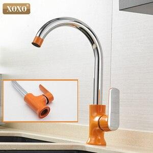 Image 5 - Кухонный кран XOXO, латунный Смеситель для холодной и горячей воды с одной ручкой и вращением на 360 градусов, Tap20021 1 Torneira,