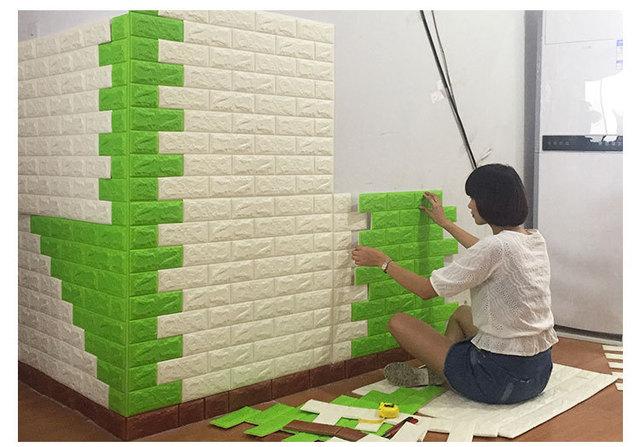 Aliexpress.com : Buy 70x77cm PE Foam 3D Wall Stickers Safty Home ...