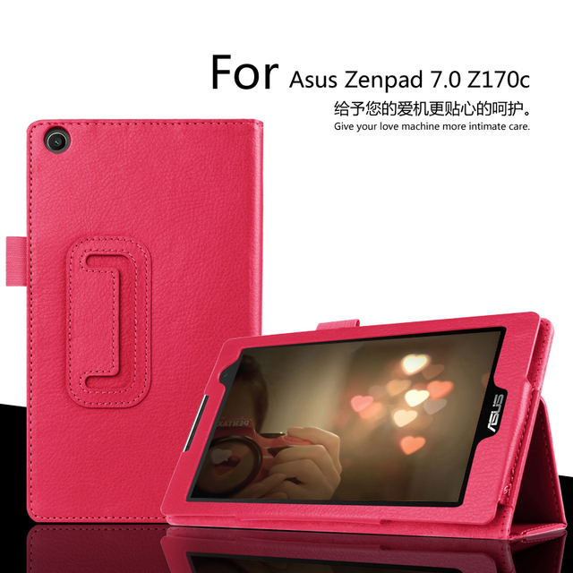 competitive price 270ba ce92d For Asus ZenPad C 7.0 Z170c 7 inch Tablet Case Litchi PU Leather Cover For  Asus Z170c Tablet Slim Protective shell FreeShipping-in Tablets & e-Books  ...