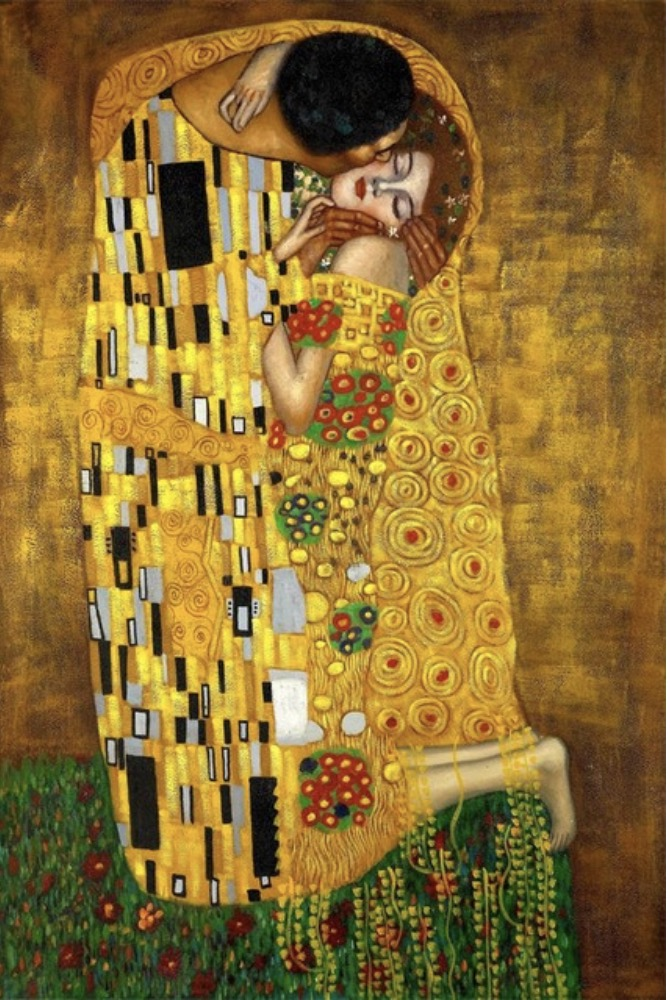 Famous Painting Canvas Pictures The Kiss Gustav Klimt Wall Art Photo Poster