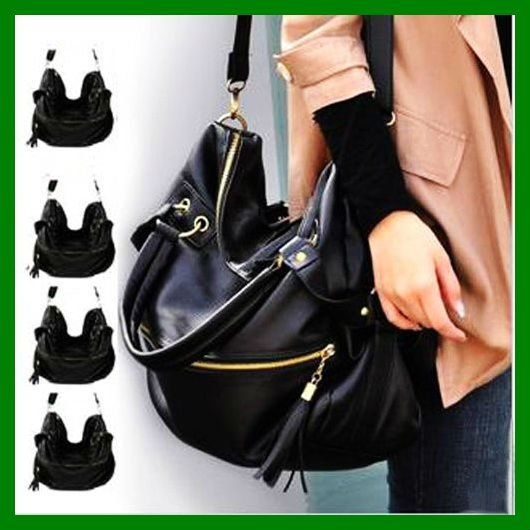 eeaf452aff 2015 Hot Women Korean Hobo PU Handbag Cross Body Lady Shoulder Bag Large  Black  Brown Free Shipping