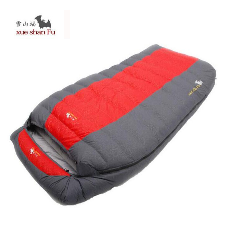 Double Sleeping Bag adult fill 800G 1200G 1600G 2000G tourism camping equipment White duck down camping