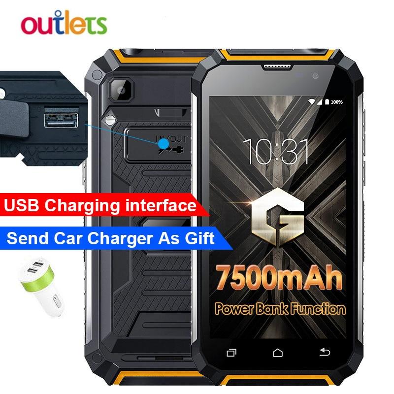 Original Geotel G1 3G WCDMA Smartphone 7500mAh Power Bank Andriod 7 0 MTK6580A Quad core 2GB