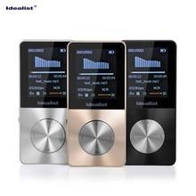 Idealist Metal MP4 E Book FM TF Recording 4GB 8GB 16GB Black Silver Gold Mp4 font