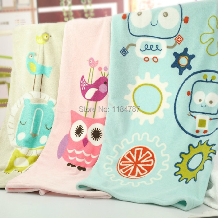 New Arrival Children Towel Absorbent Ultra Microfiber Baby Blanket Cute Cartoon Kids Bath Original Brand Robot In Towels From Home Garden On