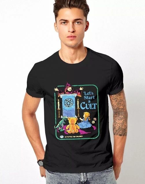 Unisex Gothic Witchcraft Tee Lets Start A Cult