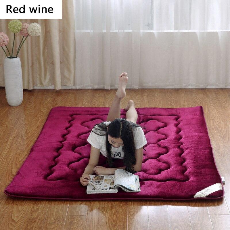 Schlafzimmer Möbel Bambus Faser Dicke Warme Faltbare Einzel-oder Doppel Matratze Mode Neue Topper Stepp Bett