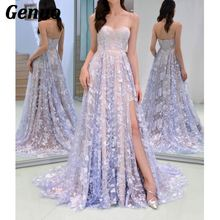 Genuo Sexy Strapless Party Dress 2018 Winter Elegant Maxi Women Vintage Floral Lace Long Dresses Vestidos