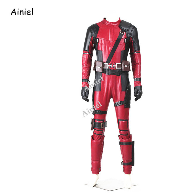 Ainiel Deadpool Costume Cosplay Superhero Wade Wilson Jumpsuit Movie Deadpool Cosplay Outfit Halloween Carnival Adult Men