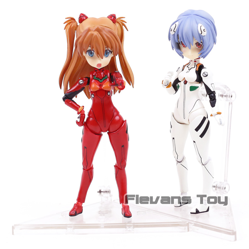Neon Genesis EVANGELION EVA Parfom F011 Asuka Langley Soryu F010 Ayanami Rei Movable Ver PVC Model Action Figure Toy ayanami rei neon genesis evangelion action model anime figure white & black 2 style collection with box 24cm kids toy gift y7625
