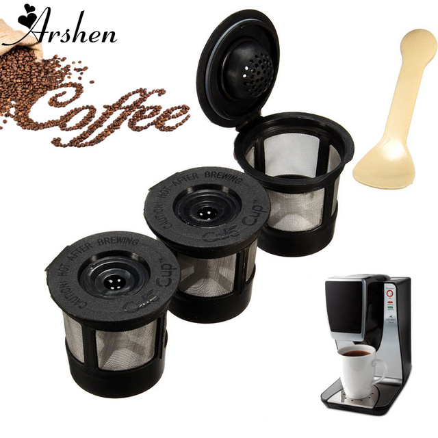 Arshen 3pcsset Plastic Coffee Filters Strainer Basket Coffee