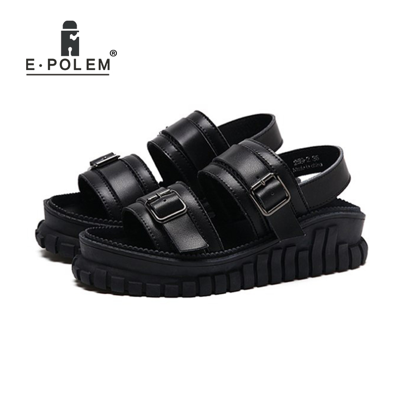 f1e912ccdc women's Harajuku punk thick-bottom Roman sandals ins Shoes sandals beach  shoes with open toe
