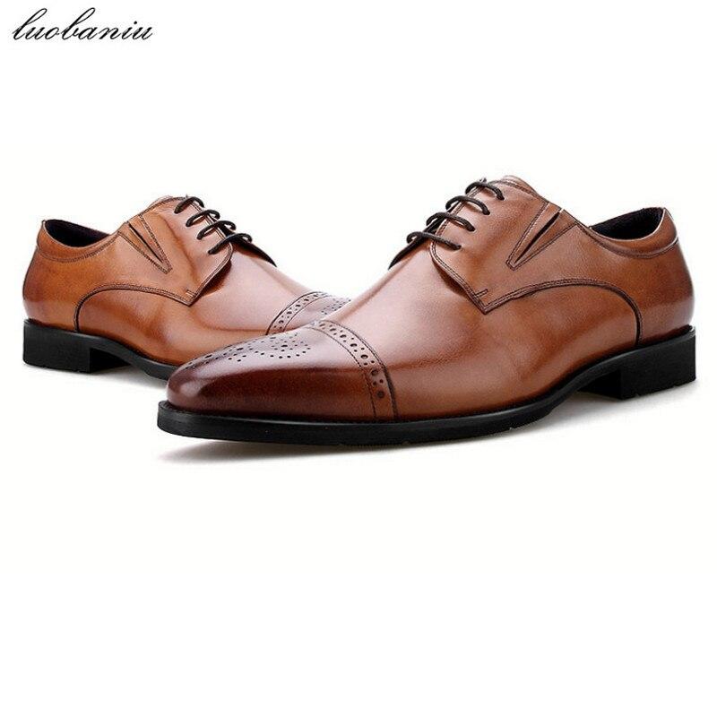 a13c85d06 Formal Pontas Escritório Preto Homens Sapatos Do Couro Qualidade Dos Dedo  Black Da Pé Marrom Superior Sapatas brown Vestido De Masculinos Genuíno  qaIIrUwZ