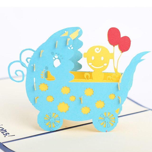 Babys Birthday Card 3D Pop Up Type Handmade Pony Style Greeting Innovative Childrens Day