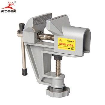 RDEER Bench Vise Universal Mini Máquina Repair Fixo Ferramenta Liga de Alumínio Mesa Vice Ferramentas Manuais Mandíbula Fixa Parafuso Firmemente