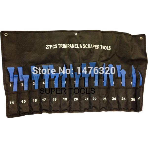 27 UNIDS Universal Automotive Rascador de Plástico Panel de Moldura Removal Tool Kit AT2089