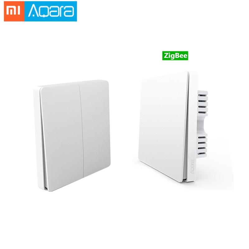Original Xiaomi Aqara Mijia Smart Home Light Control Single Fire Wire ZigBee Wireless Key Wall Switch Via Smartphone APP Remote