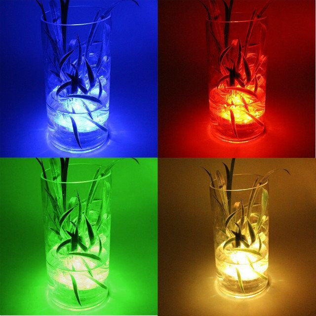 1pc/pack 2.8inch Colorful Submersible led light party decor under vase base Chinese New Year Paper lantern led light