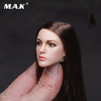 1/6 Scale KT005 Female Head Sculpt Long Hair Model Toys For 12 Inches Women Bodies Figures