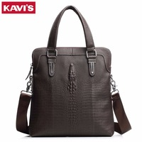 KAVIS 100 Top Genuine Leather Brand Cowhide Business Men Messenger Bag Male Portable Laptop Casual Purse