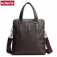 KAVIS 100 Top Genuine Leather Brand Cowhide Business Men Messenger Bag Male Portable Laptop Casual Purse