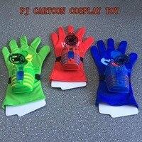 3 PC Set PJ Cartoon Mask Music Launcher Toy Les Pyjamasques Cosplay Connor Greg Amaya Glove