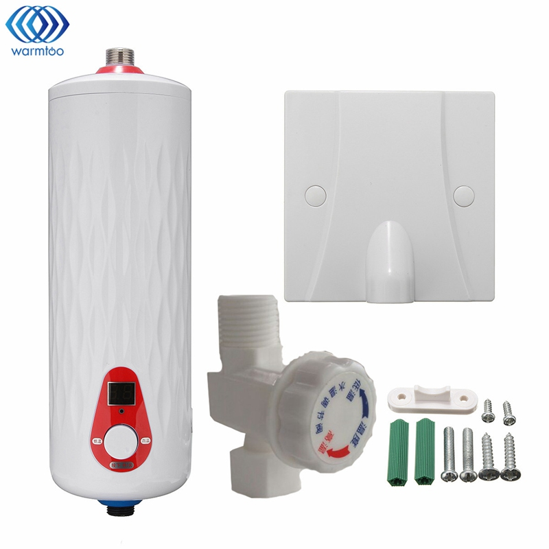 все цены на Electric Water Heater Instantaneous 220V 4500W LED Digital Display Constant Temperature Instant Heating Kitchen Shower Room онлайн