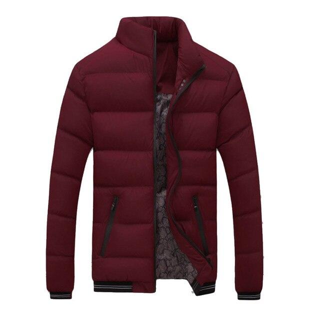 Men Winter Warm Slim Fit Thick Bubble Coat Casual Jacket Parka Outerwear