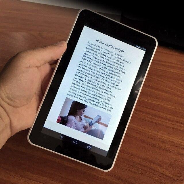 Resolución HD de 7 pulgadas de pantalla táctil WIfi inteligente Ebook lector digital y Digital Video + MP3 reproductores de música de regalo caja de la PU