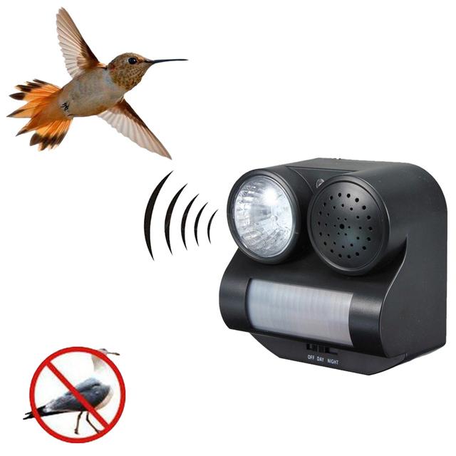 PIR Bird Repeller PIR Motion Activated Sensor Repellent Deterrent Pigeon Scarer Pest Repeller Electronic Garden Pest Repeller