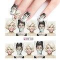 1 folhas Novas Dicas Da Arte Do Prego de Transferência da Água Tatuagem Completo Beleza Sexy Lady Mulheres Etiqueta do Prego Para Nail Art Decoração BN025
