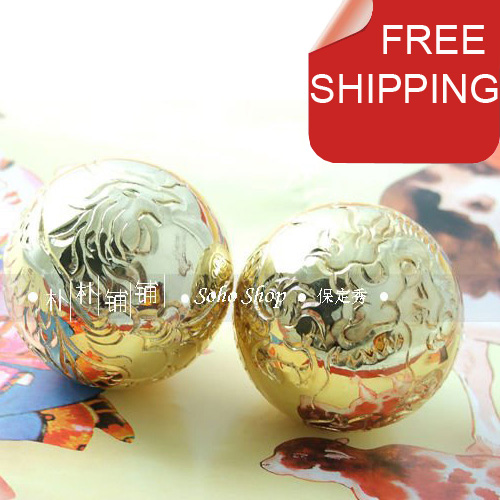 Free shipping.Precious 50mm handcarved baoding iron balls.Well - Home Decor - Photo 1