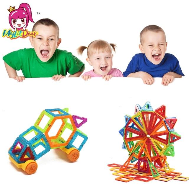 97pcs DIY Magnetic Building Toy Set Mini Magic Magnet Pulling Enlighten Models Friends Building Brick Toys For Kids Gift