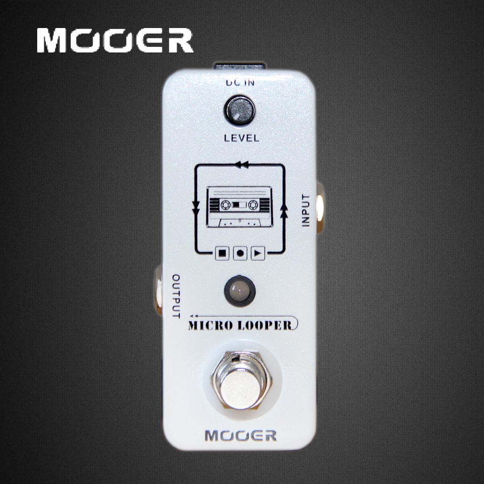 MOOER Micro Looper Loop Recording Pedal True Bypass Guitar effect pedal new ab looper effect pedal loop switcher true bypass for electric guitar pedal orange foot switch