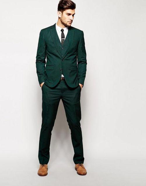 Pantalones boda Trajes para hombres prom blazer Custom slim fit skinny 3  unidades novio terno masculino a92d13b10db