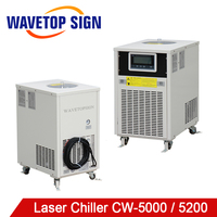 WaveTopSign CW 5000 CW 5200 CO2 Glass Tube Laser Chiller for CO2 Laser Engraving Cutting Machine Cooling 150W Laser Tube