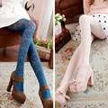 High Quality Spring Autumn Pantyhose Vintage Style Lace Tights Sexy Hollow Out Stockings High Elasticity Pantyhose 8 Colors