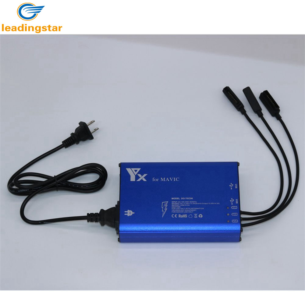 LeadingStar 3 in 1 Battery Charger with 2 USB Ports for RC Quadcopter font b Drone